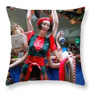 Holiday Stress Throw Pillow