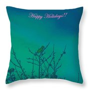Holiday With Nature Throw Pillow