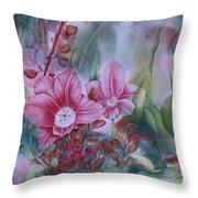 Holland Blooms Throw Pillow