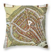 Holland: Gouda Plan, 1649 Throw Pillow