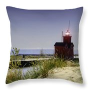 Holland Harbor Light  Throw Pillow