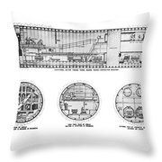 Holland Tunnel Construction Throw Pillow