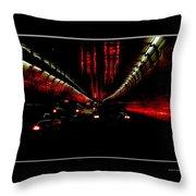 Holland Tunnel Lights Throw Pillow
