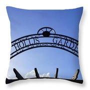 Hollis Gardens Entrance Throw Pillow