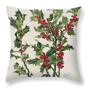 Holly Throw Pillow by Alice Bailly