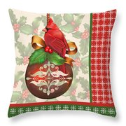 Holly And Berries-b Throw Pillow