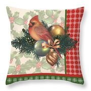 Holly And Berries-c Throw Pillow