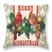 Holly And Berries-i Throw Pillow