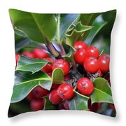 Holly Berries 2 Throw Pillow