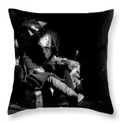Holly In Chair 1980 Throw Pillow
