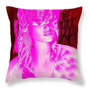 Holly In Hood Throw Pillow