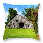 Holly Island Barn Throw Pillow