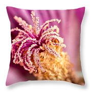 Hollyhock 2 Throw Pillow