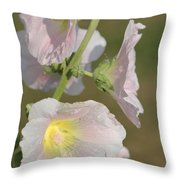 Hollyhock Named Indian Spring Pink Throw Pillow