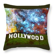 Hollywood 2 - Home Of The Stars By Sharon Cummings Throw Pillow