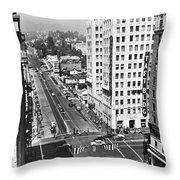 Hollywood And Vine In La Throw Pillow
