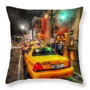 Hollywood Boulevard Throw Pillow