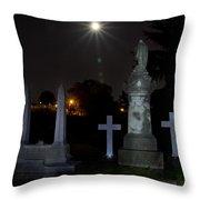Hollywood Cemetery Moon Burst Throw Pillow