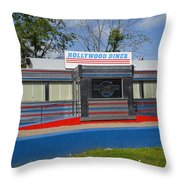 Hollywood Diner Throw Pillow