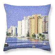Hollywood In Florida Throw Pillow