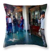 Hollywood Super Heros Throw Pillow