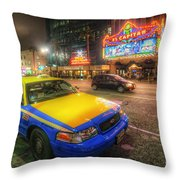 Hollywood Taxi Throw Pillow