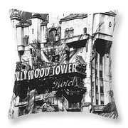 Hollywood Tower Throw Pillow