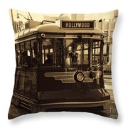 Hollywood Trolley Throw Pillow