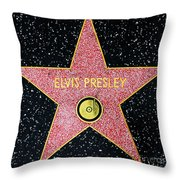 Hollywood Walk Of Fame Elvis Presley 5d28923 Throw Pillow