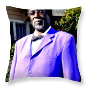 Hollywood Wearing His Dress Suit And Bow Tie Color Photo Usa Throw Pillow