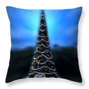 Hollywood Xmas Tree Walt Disney World Throw Pillow