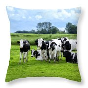 Holstein Heaven Throw Pillow