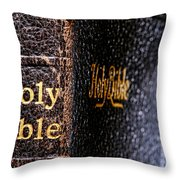Holy Bible Throw Pillow