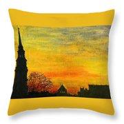 Holy City Sunset Throw Pillow