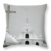 Holy Cross Chapel In Cochin Throw Pillow