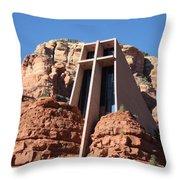 Holy Cross Church Throw Pillow