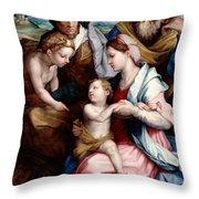 Holy Family Throw Pillow