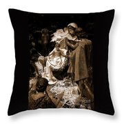 Holy Family Nativity - Color Monochrome Throw Pillow