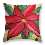 Holy Flower Throw Pillow