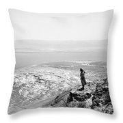 Holy Land Dead Sea, C1910 Throw Pillow