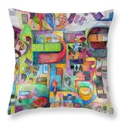 Holy Letters 3 Throw Pillow