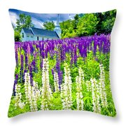 Holy Lupines Throw Pillow