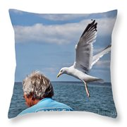 Holy Mackerel Throw Pillow