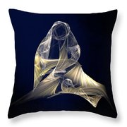 Holy Mother And Child Abstract II Throw Pillow