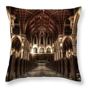 Holy Name Cathedral Throw Pillow