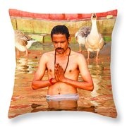 Holy River Throw Pillow