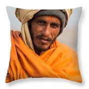 Holy Saffron Throw Pillow