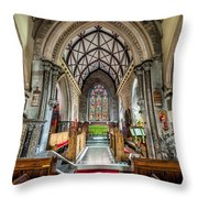 Holy Trinity Throw Pillow by Adrian Evans