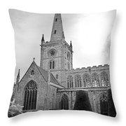 Holy Trinity Church Stratford Upon Avon Throw Pillow