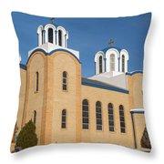 Holy Trinity Orthodox Christian Church Throw Pillow